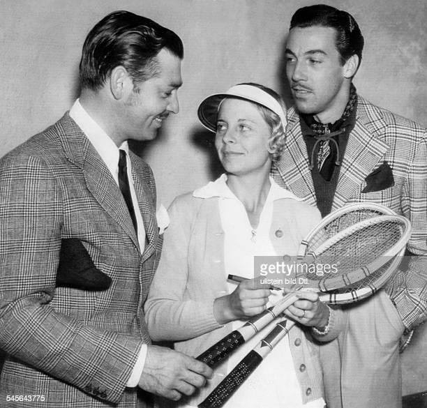 Gable Clark *Schauspieler USA CG mit der Tennisspielerin AliceMarble und Cesar Romero 1936