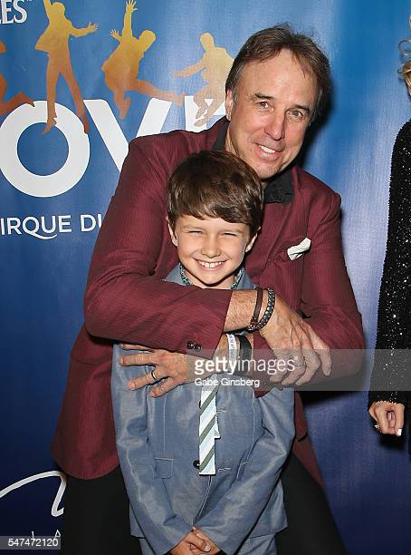 Gable Ness Nealon and his father actor and comedian Kevin Nealon attend the 10th anniversary celebration of The Beatles LOVE by Cirque du Soleil at...