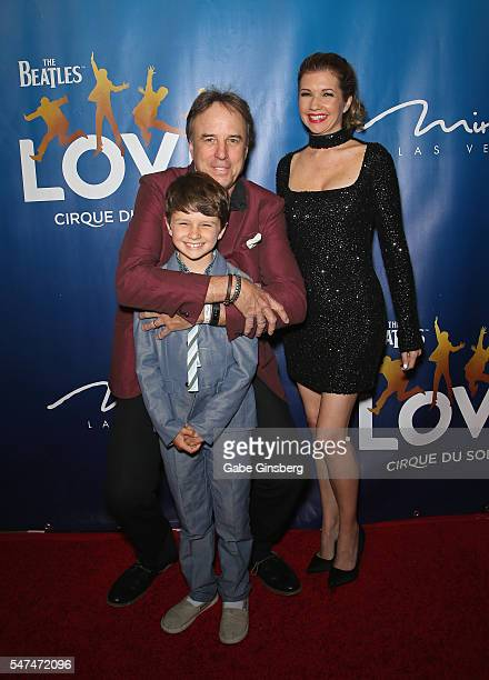 Gable Ness Nealon and his parents actor and comedian Kevin Nealon and actress Susan Yeagley attend the 10th anniversary celebration of The Beatles...
