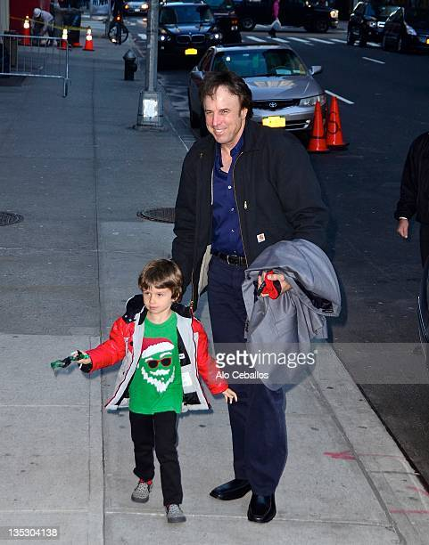 Gable Ness Nealon and Kevin Nealon visit Late Show With David Letterman at the Ed Sullivan Theater on December 8 2011 in New York City
