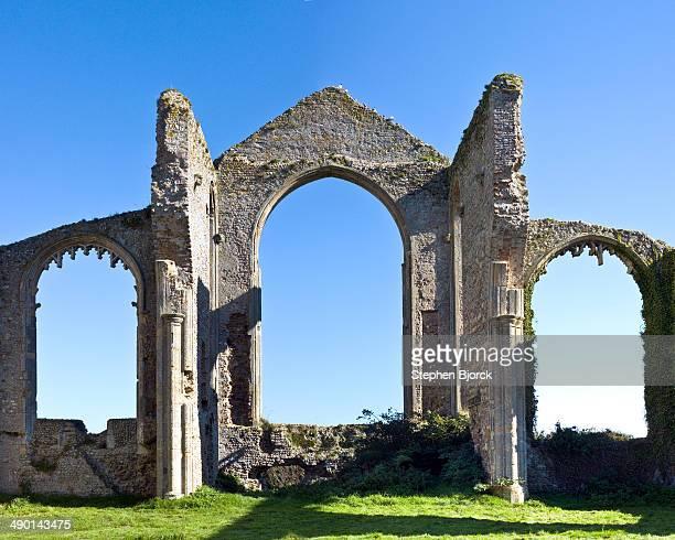 Gable of church ruin at Covehithe