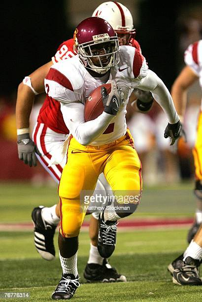 J Gable of the USC Trojans carries the ball against the Nebraska Cornhuskers on September 15 2007 at Memorial Stadium in Lincoln Nebraska