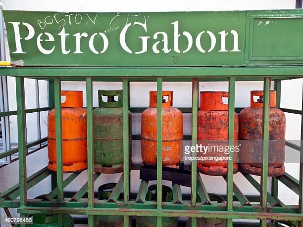 Gabon, Estuaire Province, Libreville, gas canisters.