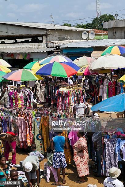 Gabon, Estuaire Province, Libreville, street market.