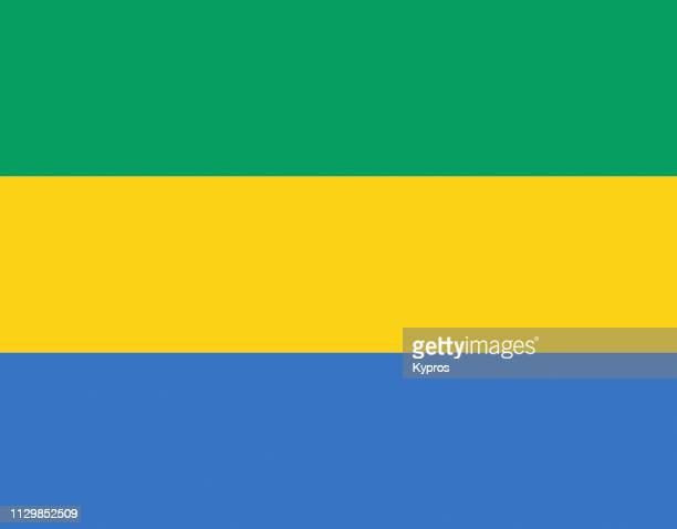 gabon flag - gabon stock pictures, royalty-free photos & images
