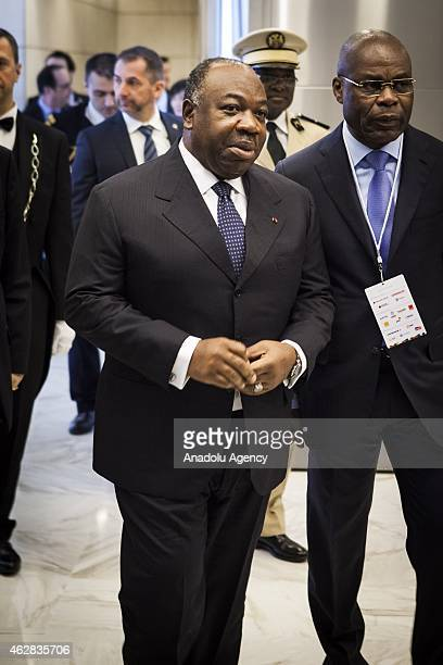 Gabonese President Ali Bongo Ondimba is seen ahead of FrancoAfrican forum at the Economy Ministry in Paris on February 6 2015