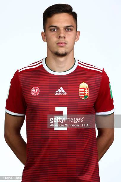 Gabor Buna poses during the Hungary U17 team presentation on October 23 2019 in Goiania Brazil