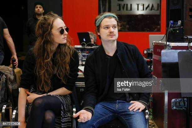Gabor Mandoki and his girlfriend Sophie Roecken during the Mandoki Soulmates Wings Of Freedom Rehearsal on February 28 2017 in Paris France