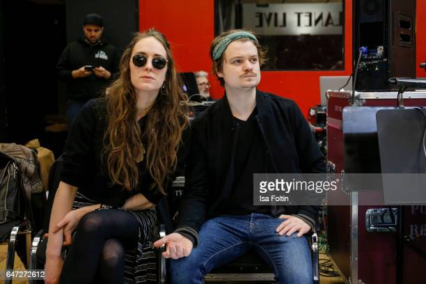 Gabor Mandoki and his girlfriend Sophie Roecken during the Mandoki Soulmates: Wings Of Freedom - Rehearsal on February 28, 2017 in Paris, France.