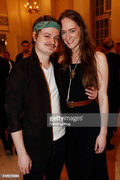 Gabor Mandoki and Sophie Roecken attend the Man Doki Soulmates Wings Of Freedom Concert in Berlin on March 6 2017 in Berlin Germany