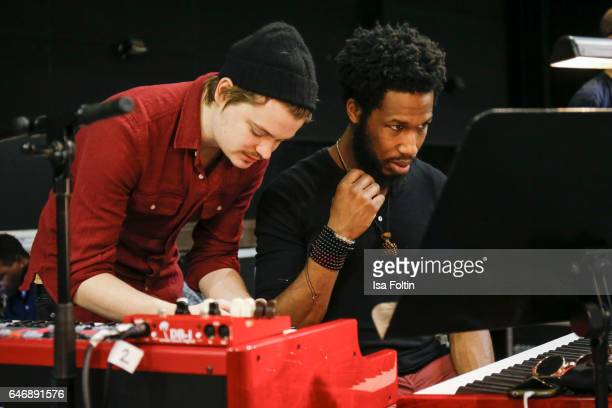 Gabor Mandoki and US jazz organist and pianist gospel musician and music producer Cory Henry during the Man Doki Soulmates Wings Of Freedom Rehearsal...