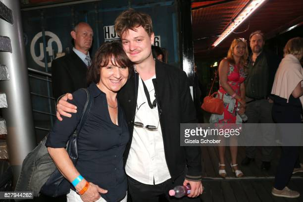 Gabor Mandoki with his aunt Agnes Pfitzner twin sister of his mother Eva attend the Man Doki Soulmates concert during tthe Sziget Festival at...