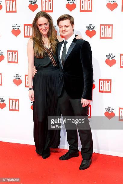 Gabor Mandoki with his girlfriend Sophia attend the Ein Herz Fuer Kinder gala on December 3, 2016 in Berlin, Germany.