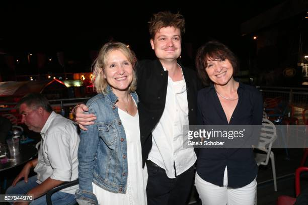 Gabor Mandoki with his mother Eva Mandoki twin sister of his mother aunt Agnes Pfitzner attend the Man Doki Soulmates concert during tthe Sziget...