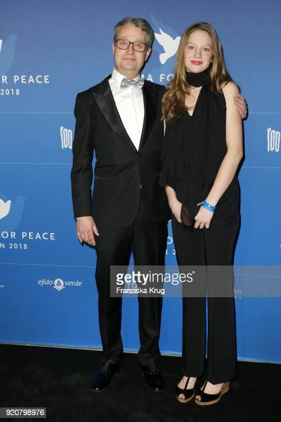 Gabor Steingart and his daughter Timea Steingart attend the Cinema For Peace Gala on the occasion of the 68th Berlinale International Film Festival...