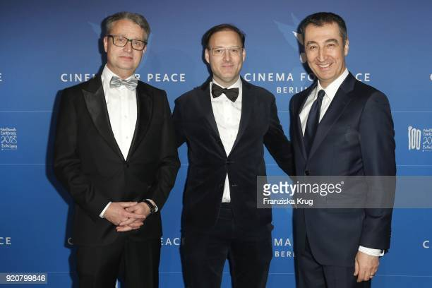 Gabor Steingart Jaka Bizilj and Cem Oezdemir attend the Cinema For Peace Gala on the occasion of the 68th Berlinale International Film Festival at...