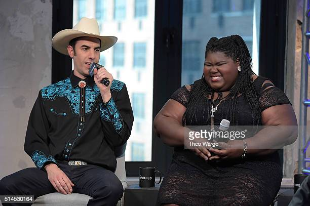 Gabourey Sidibe and Sacha Baron Cohen attend AOL Build Speakers Series Sacha Baron Cohen and Gabourey Sidibe The Brother Grimsby at AOL Studios In...