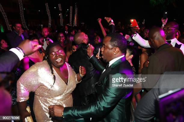 Gabourey Sidibe and Sean 'Diddy' Combs attend Sean 'Diddy' Combs Hosts CIROC The New Year 2018 Powered By Deleon Tequila at Star Island on December...