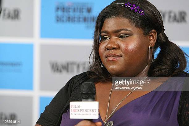 Gabourey Sidibe at Film Independent's Screening of Precious held at The Pacific Design Center on October 28 2009 in West Hollywood California
