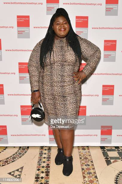 Gabourey Sidibe attends the 20th Anniversary Bottomless Closet Luncheon at Cipriani 42nd Street on May 15 2019 in New York City