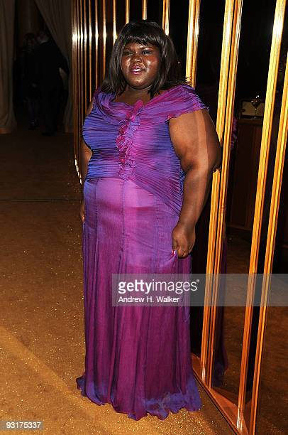 Gabourey Sidibe attends The Cinema Society Calvin Klein screening after party for Broken Embraces at The Standard on November 17 2009 in New York City