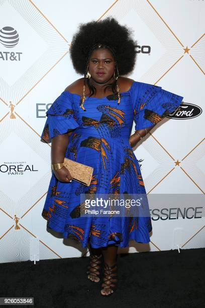 Gabourey Sidibe attends the Essence 11th Annual Black Women In Hollywood Awards Gala at the Beverly Wilshire Four Seasons Hotel on March 1 2018 in...