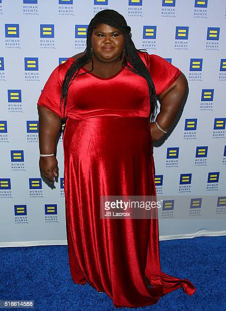 Gabourey Sidibe attends the Human Rights Campaign 2016 on March 19 2016 in Los Angeles California