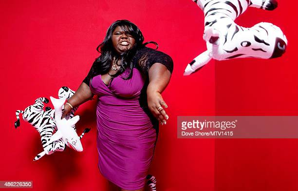 Gabourey Sidibe is photographed at the 2015 MTV VMA Awards on August 30 2015 at the Microsoft Theater in Los Angeles California