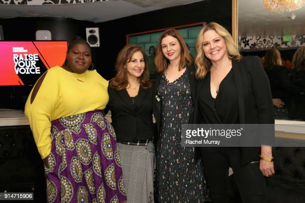 Gabourey Sidibe Kathy Najimy Amber Tamblyn and Mary McCormack attends The 2018 MAKERS Conference at Hollywood Palladium on February 5 2018 in Los...