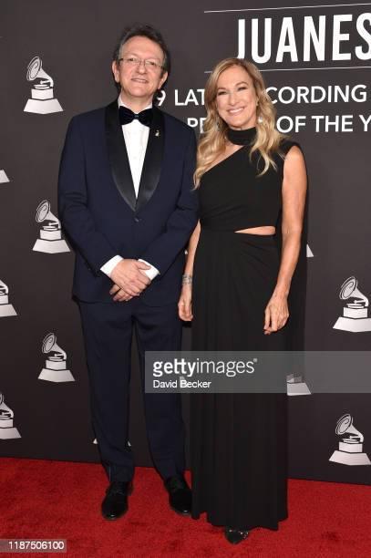 Gabriel Abaroa Jr and Deborah Dugan attend the Latin Recording Academy's 2019 Person of the Year gala honoring Juanes at the Premier Ballroom at MGM...