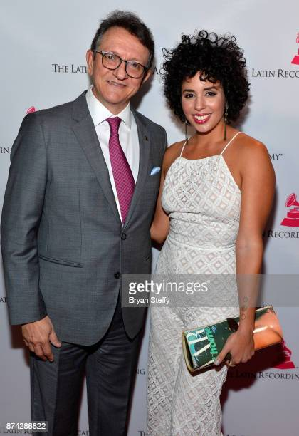 Gabriel Abaroa President and CEO of the Latin Recording Academy and Raquel Sofia attend the Leading Ladies Lunch during the 18th annual Latin Grammy...