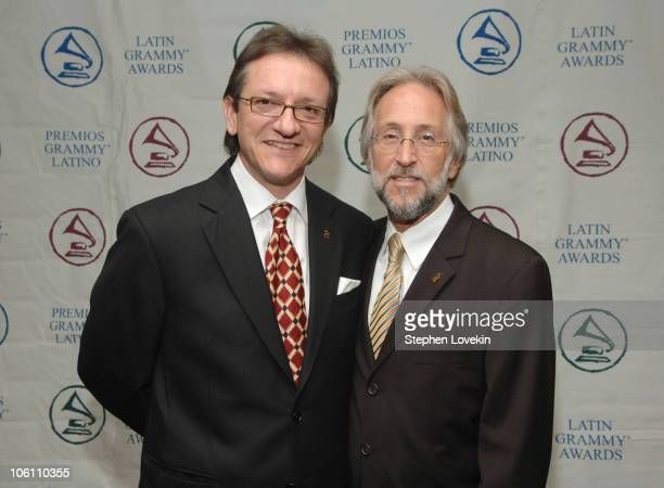 Gabriel Abaroa President of The Latin Recording Academy and Neil Portnow Recording Academy President