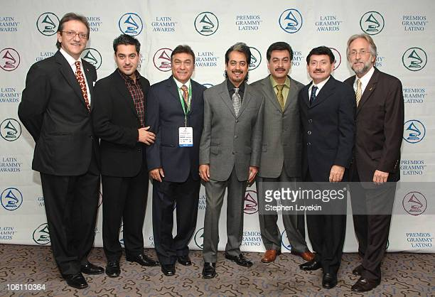 Gabriel Abaroa President of The Latin Recording Academy and Neil Portnow Recording Academy President with Los Tigres del Norte
