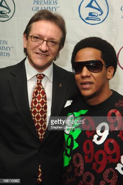 Gabriel Abaroa President of The Latin Recording Academy and Tego Calderon