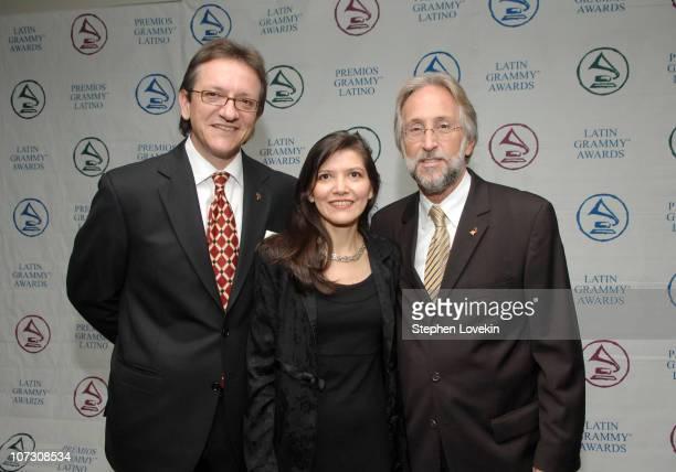 Gabriel Abaroa President of The Latin Recording Academy Andrea Arroyo and Neil Portnow Recording Academy President