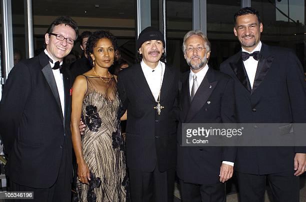 Gabriel Abaroa president of the Latin Recording Academy Deborah Santana Carlos Santana Neil Portnow and Kike Santander