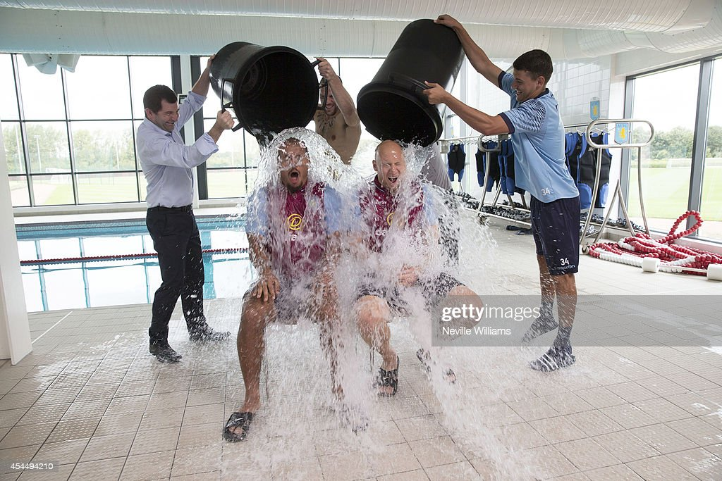 Gabriel Agbonlahor and Brad Guzan Take Part in the ALS Ice Bucket Challenge