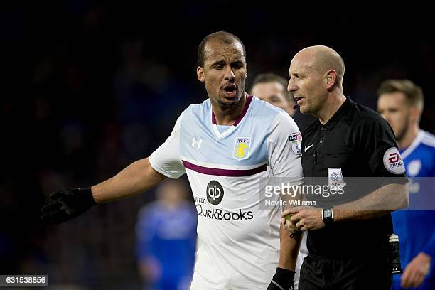 Gabriel Agbonlahor of Aston Villa during the Sky Bet Championship match between Cardiff City and Aston Villa at the Cardiff City Stadium on January...