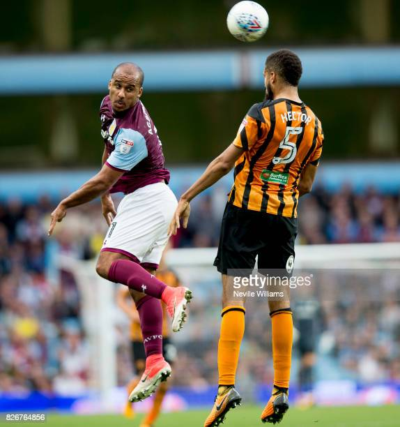 Gabriel Agbonlahor of Aston Villa during the Sky Bet Championship match between Aston Villa and Hull City at Villa Park on August 05 2017 in...
