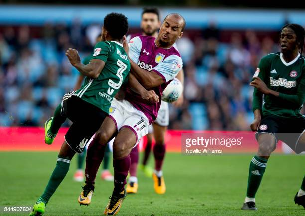 Gabriel Agbonlahor of Aston Villa during the Sky Bet Championship match between Aston Villa and Brentford at Villa Park on September 09 2017 in...