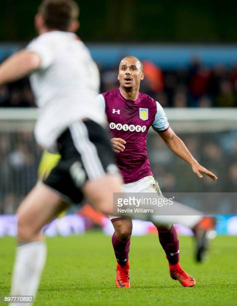 Gabriel Agbonlahor of Aston Villa during the Sky Bet Championship match between Aston Villa and Sheffield United at Villa Park on December 23 2017 in...