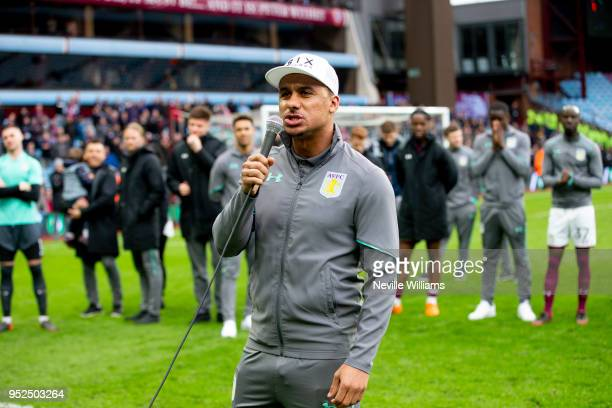Gabriel Agbonlahor of Aston Villa during the Sky Bet Championship match between Aston Villa and Derby County at Villa Park on April 28 2018 in...