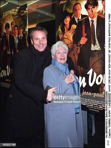 Gabriel Agion 'Line Renaud' preview of the movie 'Bon Voyage' by 'Jean Paul Rappeneau' in Paris
