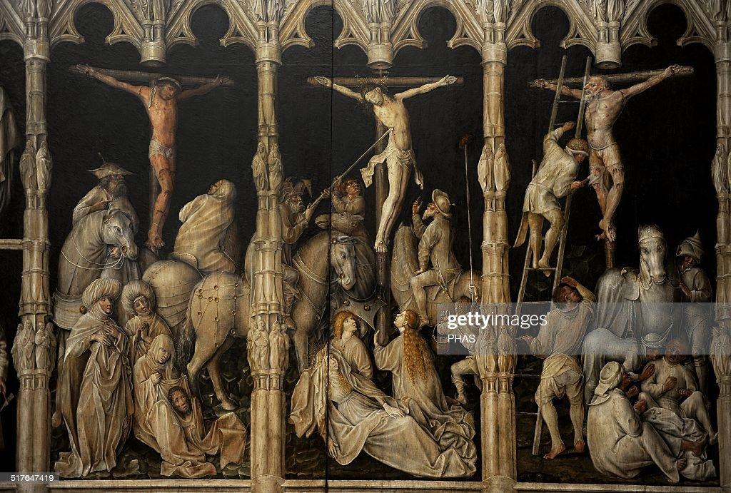 Crucifixion with saints Coloman. : News Photo