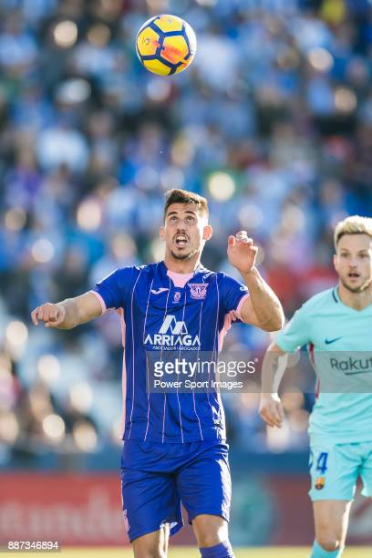 Gabriel Appelt Pires of CD Leganes in action during the La Liga 201718 match between CD Leganes vs FC Barcelona at Estadio Municipal Butarque on...