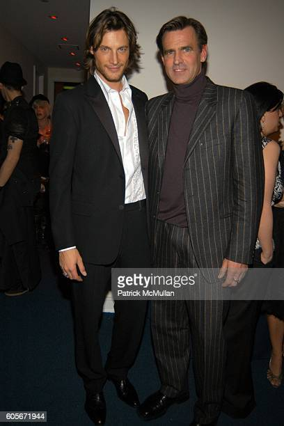 Gabriel Aubrey and Paul Beck attend VERSACE VIP Dinner at 1 Beacon Court on February 7 2006 in New York