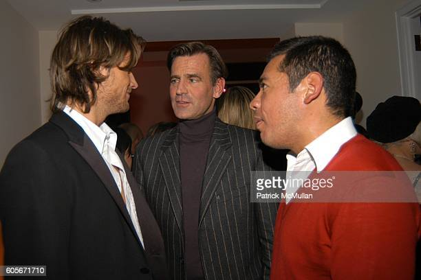 Gabriel Aubrey Paul Beck and Sean Patterson attend VERSACE VIP Dinner at 1 Beacon Court on February 7 2006 in New York