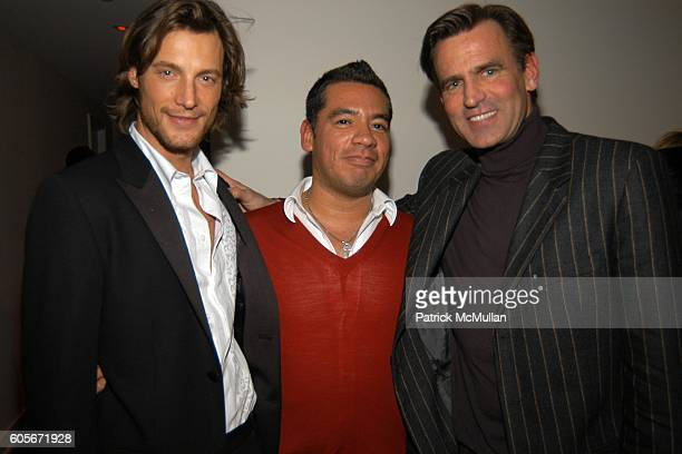Gabriel Aubrey Sean Patterson and Paul Beck attend VERSACE VIP Dinner at 1 Beacon Court on February 7 2006 in New York
