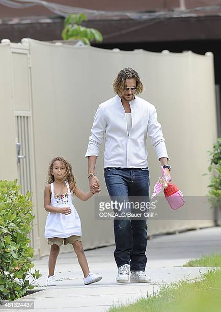 Gabriel Aubry and Nahla Aubry are seen on May 17 2013 in Los Angeles California