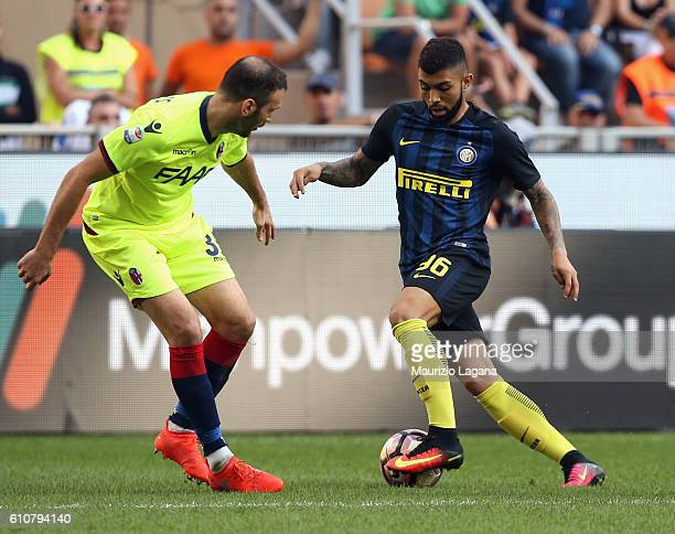 Gabriel Barbosa of Inter during the Serie A match between FC Internazionale and Bologna FC at Stadio Giuseppe Meazza on September 25 2016 in Milan...